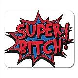 Deglogse Tapis de Souris de Jeu, Bolt Bitch Super Tattoo Comic Bad Abstract Awesome Burst Mouse Pad, Desktop Computers Mats