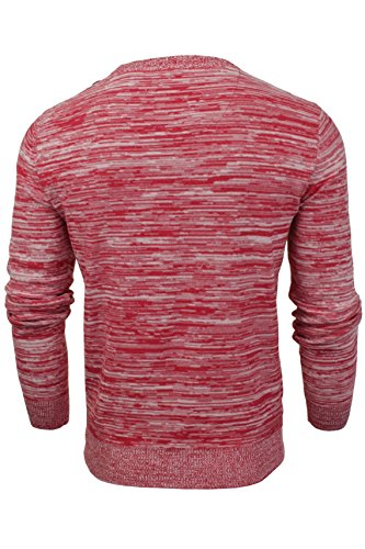 Hommes Pull Firetrap Col Rond Rouge