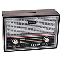 The Universal Gift Shop Great Way to Say I Love You to Your Husband, Partner - Save for Your Next Holiday in This Fun Black Radio Savings Bank - A fun present that is also useful