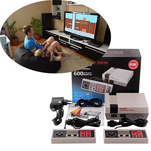 Riotis Spielekonsole, klassisch, HDMI, Retro, klassisch, Mini-Spielekonsole, 620 TV-Spielekonsole, mit Doppel-Controller