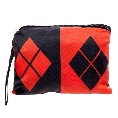 Officiellement sous licence DC Comics Villains Harley Quinn Logo compressible Tote Bag