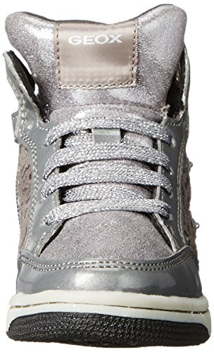 Geox JR CREAMY A Mädchen Hohe Sneakers Silber (C1007SILVER)