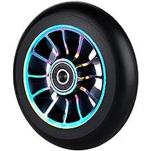 Rueda de repuesto profesional de 110 mm, con rodamientos ABEC 9, para scooter MGP/Razor/Lucky Pro, T-Rainbow