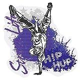Wandtattoo Jugendzimmer Musik Wandsticker Cooler Breakdancer im Hip Hop Stil Tä