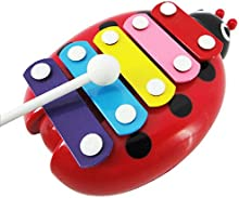 zolimx 5-Nota juguetes musicales de xilófono, instrumento del desarrollo de la sabiduría