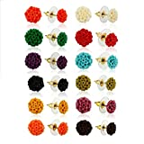 Nisa Pearls Synthetic Coral Earrings For...