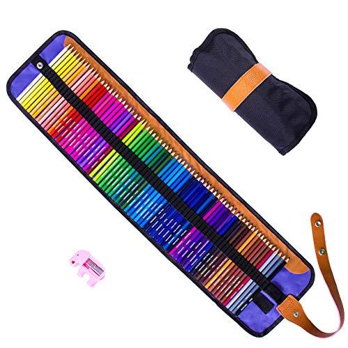 Rock Ninja Matite Colorate Set, 72 colori vivaci (nessuna duplikate), molle Kern, Art Colo Ring Disegno Matite, disegno matite per Sketch, Arte, Libri da colorare con Fall Spitzer e aufrollen