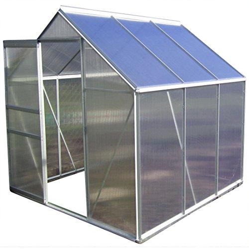 2,5 - 6,06m² ALU Aluminium Gewächshaus Glashaus Tomatenhaus