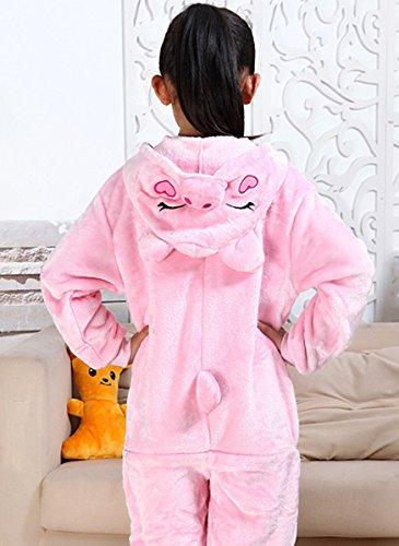 Unisex Kinder Cartoon Tiere Pyjamas Nachtwäsche Bademäntel Rosa Schwein