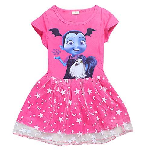 Vannie Vampirina Niña Vestido Princesa Cosplay Skirt