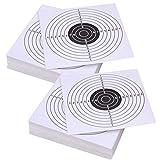 Poualss 100 Pezzi Tiro con L'Arco Tiro con L'Arco Carta da Addestramento Carta da Bowling Arco Carta da Allenamento Volto Bersaglio per Caccia Sportiva Kit Regalo per Prua (Bianco)