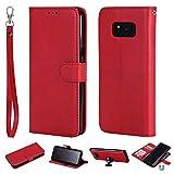 Ostop Brieftasche Hülle für Samsung Galaxy S8 Plus,Rot Prämie PU Leder Magnet Abnehmbar Handyhülle Kartenfach Tasche Slim Stand Flip Klappbar Abdeckung Komplett Schutzhülle für Samsung Galaxy S8 Plus