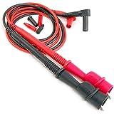 ELINK Premium aleación de puntas de prueba con pinzas de cocodrilo (alta calidad 18AWG alambre con 2000V resistencia aislamiento Cable e199279UL Listed (Set)