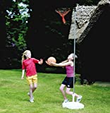 New Outdoor Garden Fitness Game Fun Practice Netball Stand Ring Net Pole Set