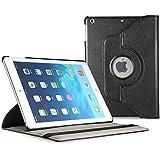 EasyAcc® iPad Air Hülle Smart Cover 360° Kunstleder Schutzhülle Hülle Tasche Flip cover case für Apple iPad air iPad 5 in Schwarz mit praktischer Ständerfunktion Tablet (Auto Sleep - Premium PU Leder -360-Grad drehbar)