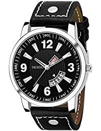 Frosino FRAC061814 Analog Date & Day Function Black dial Casual Frosting Watch for Men