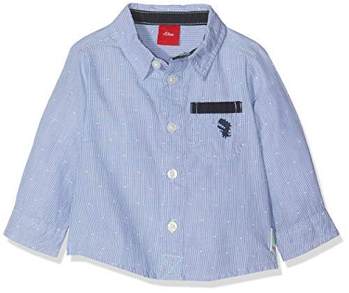 s.Oliver Baby-Jungen 65.908.21.4292 Hemd, Blau (Blue Check 53n1), (Herstellergröße: 74)