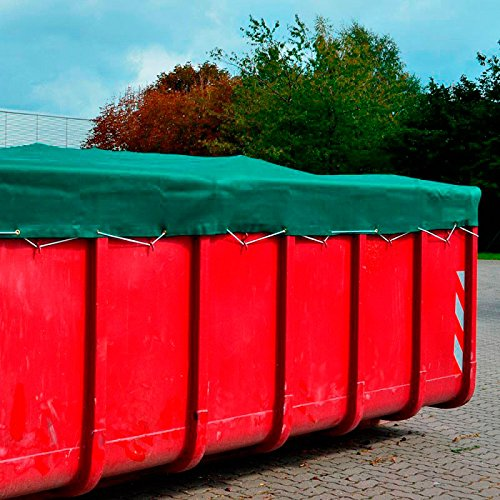 Donet Anhängernetz, Containernetz feinmaschig 3,50 x 5,00 m zur Ladungssicherung mit Ösen, grün
