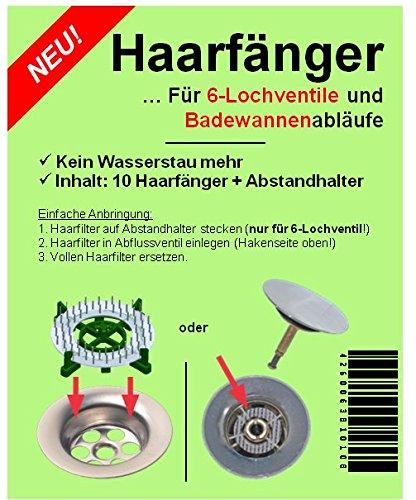 haarsieb-haarfnger-10er-mit-abstandhalter-waschbecken-badewanne-dusche-waschtisch-sieb-fr-abflussven