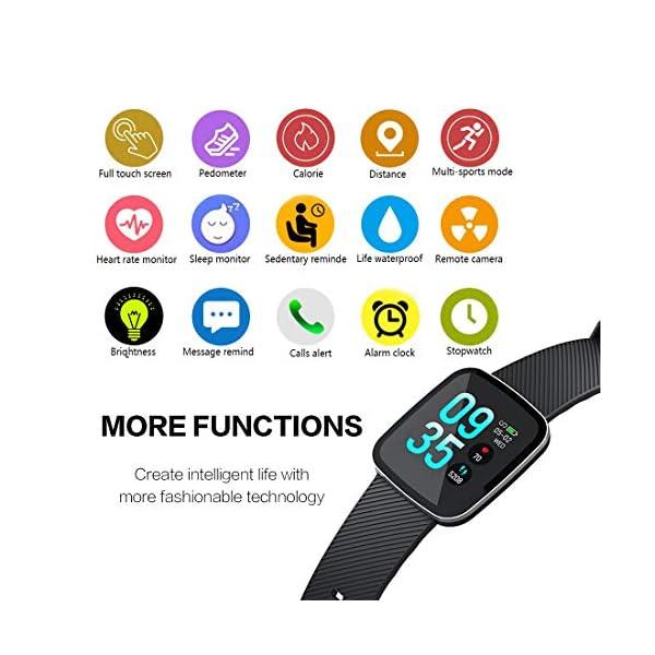 EUMI Smartwatch, Reloj Inteligente con IP67, Pulsera Actividad Inteligente Batería 10-15 días 1.3'' a Color 8… 3