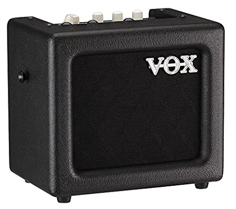 VOX MINI3-G2BK 3 W Mains/Battery Modelling Amplifier with Effects - Black Finish