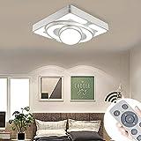 MYHOO 48W regulable lámpara de techo led de sala de estar luz de cocina lámpara de techo panel de lámpara de techo habitación ahorro de energía lámpara de techo