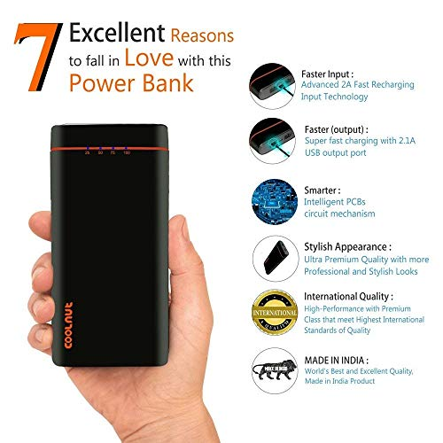 Coolnut High Capacity Power Bank 20000mAh For all Smartphones