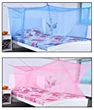 shahji creation Blue & Pink Double Bed 6...