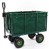 Izzy Bollerwagen Gartenwagen 300 kg belastbar, klappbare Seitenwände Luftreifen