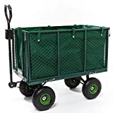 Gartenwagen, 300 kg Tragkraft, Metall, Traktorkupplung, Gartenkarre, Gerätewagen, Transportwagen,...