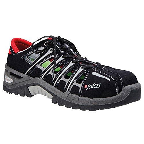 Sandales de sécurité S1Jalas exalter 9500San Dale de travail avec capuchon de protection d'été Chaussures de sécurité Noir/Gris/Rouge