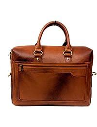 "AYS Stylish 15.5"" Genuine Pure Leather Laptop Sleeve Messenger Office Bag - B01FKD93V8"