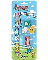 Anker Adventure Time Pencil and Eraser Set, Plastic, Multi-Colour