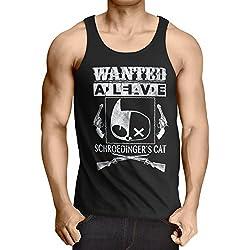 Wanted Gato de Schrödinger Camiseta de Tirantes para Hombre