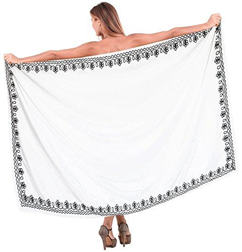 La-Leela-cubierta-blanca-bordada-envoltura-pareo-nado-playa-sarong-hawaiano-hasta