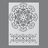 efco Ornament-Schablone in 1Design, Kunststoff, Durchsichtig, A4
