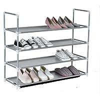 Zapatero de 4 niveles para 16 pares de zapatos extensibile 86x28x71,5 cm