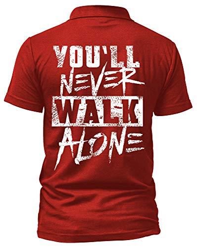 Liverpool Poloshirt   Stadt Sport Fussball Trikot Ultras   M1 FB (L, Rot) Fan Shirt Trikot