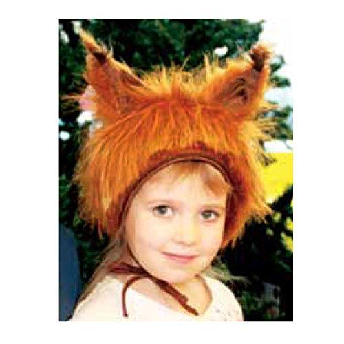 Faschingskostüm Eichhörnchen Mütze mit Ohren Kinderkostüm Kappe Hut Eichhörnchen Karneval Kostüme für Kinder Festtage Größe S/M Geschenk (Kind Eichhörnchen Kostüm)