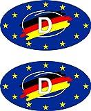 carstyling XXL Aufkleber Europa-D Holografie 2er-Set je 55 x 30 mm Deutschland Fanartikel Olympia ~ schneller Versand innerhalb 24 Stunden ~
