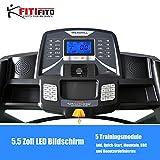 Fitifito® Laufband Heimtrainer Fitnessgerät 99+ Programme klappbar LED Bildschirm Dämpfung (EMEC660B) - 3