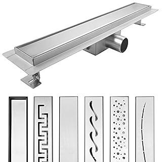 AQUADE 60 cm Shower Drain, Floor Drain, Gutter Drain, Shower Gutter, Stainless Steel Drain, Tileable, model: Lika