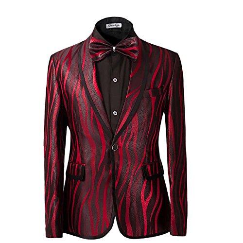 Cloud Style da uomo 2Piece Suit ideale per matrimoni scuola Proms vino rosso Red M