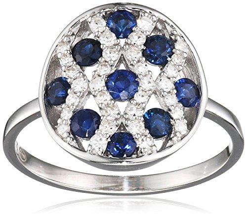 Tous mes bijoux anillos Mujer oro blanco 9 k (375) diamante