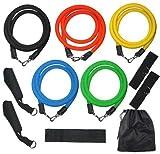 Yahee 11pcs Widerstandsbänder Krafttraining Trainingsbänder Gymnastikbänder für Heimfitness, Yoga, Bauchmuskeln