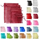 TtS 25pcs 9x12cm Organza Gift Bags Wedding Party Favour Jewellery Packing Pouches - Burgundy