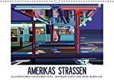 Amerikas Strassen - Illustrationen von Werner Opitz - inspiriert durch eine Reise in den USA (Wandkalender 2019 DIN A3 quer): Straßen Amerikas - ... (Monatskalender, 14 Seiten ) (CALVENDO Kunst)