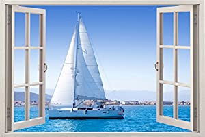 veleros 2018: Navegación Oceánica Tapiz Vinilo para Pared Vertical Pegatina Decorativa de Vent...