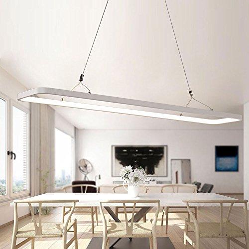 ZMH Moderne LED Pendelleuchte Hängelampe Hängeleuchte Dimmbar Büroleuchte  Deckenleuchte Höhenverstellbar Aus PVC Pendellampe Für Wohnzimmer,