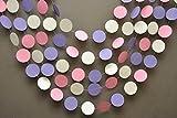 De Pâques DECOR Rose, Blanc et lilas Guirlande Bannière, Pâques, guirlande en papier, k-c-0001, bébé douche, décorations, First Birthday Decor